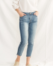 Mystree® Ladies' Stripped Side Skinny