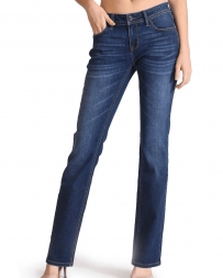Grace in LA Ladies' Dark Plain Wash Jeans