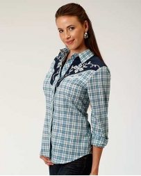 Roper® Ladies' Embroidery Yoke Plaid Shirt