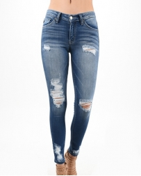 Kancan® Ladies' Destruction Skinny