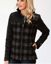 Roper® Ladies' Buffalo Plaid Combo Jacket