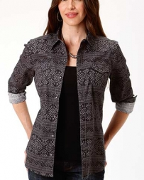 Roper® Ladies' Roper Blanket Print Shirt