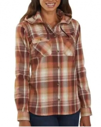 Carhartt® Ladies' Beartooth Hooded Flannel Shirt