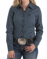 Cinch® Ladies' Navy Patterned L/S Shirt