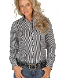 Cinch® Ladies' L/S Striped Button Down Shirt