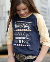 Cruel® Girls' Friendship Makes Life Fun Tee