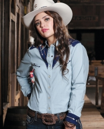 Cruel® Ladies' Arena Fit Dale Evans Snap Shirt