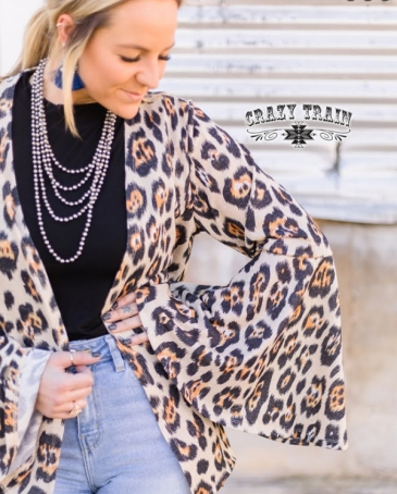 Crazy Train® Ladies' Cambridge Leopard Cardigan