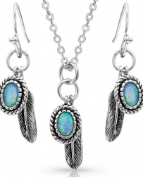 Montana Silversmiths® Ladies' Feather Opal Necklace Set
