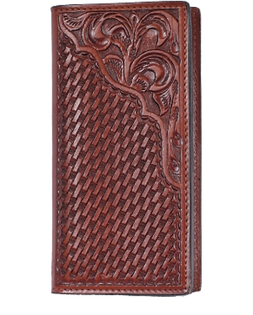 3D Belt Company® Men's Tooled Rodeo Wallet