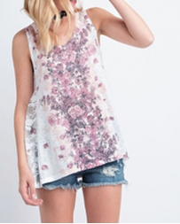 Vocal® Ladies' Floral and Bling Tank