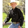 Cinch® Boys' Solid Pinpoint Shirt