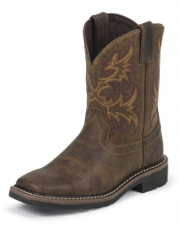 Justin® Kids' Rugged Tan Buffalo Boots - Child