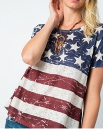 Vocal® Ladies' Vintage Flag SS Top