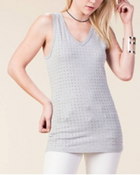 Vocal® Ladies' Grey Fashion Tank