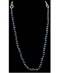 3D Belt Company® Ladies' Navy Beaded Necklace