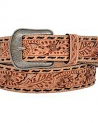 3D Belt Company® Men's Tan Tooled Belt