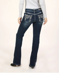 Grace in LA Girls' Dark Wash Bling Pocket