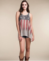 Vocal® Ladies' Sleevless Flag Tank Top