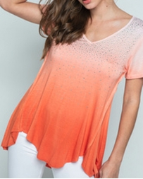 Vocal® Ladies' Ombre Dyed SS Top