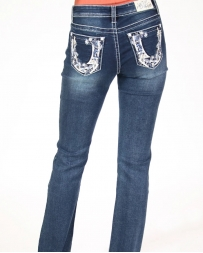 Grace in LA Girls' Bootcut Bling Jeans