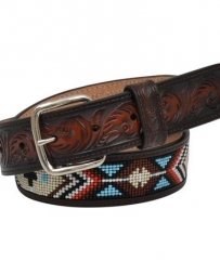 3D Belt Company® Kids' Brown Floral Beaded Belt