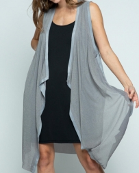 Vocal® Ladies' Long Grey Vest
