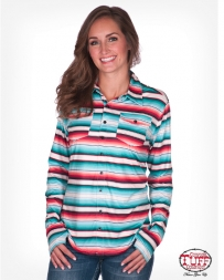 Cowgirl Tuff® Ladies' Serape Jersey Button Down
