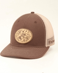 Ariat® Logo Cap Mesh Back Brown