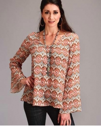 Stetson® Ladies' Aztec Print Bell Sleeve