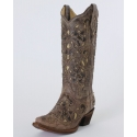 Corral Boots® Ladies' Crater Bone Inlay Boots