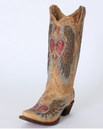 Corral Boots® Ladies' Antique Saddle Wing And Heart Boots