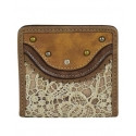 Justin® Boots Ladies' Tan Lace Bifold Wallet