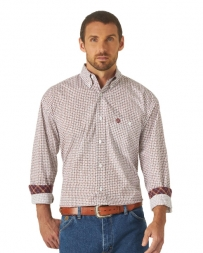 George Strait® Men's LS Button Down Print Shirt - Big and Tall