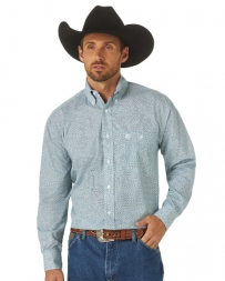 George Strait® Men's LS Button Down Print Shirt