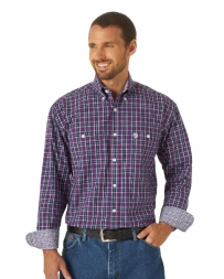 George Strait® Men's LS Button Down Plaid Shirt - Big and Tall