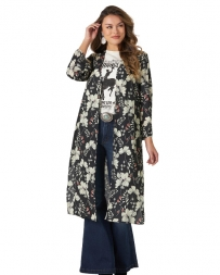 Wrangler® Ladies' Floral Chiffon Duster