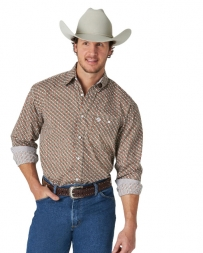 George Strait® Men's LS Button Down Print Shirt - Tall