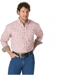 George Strait® Men's LS Button Down Plaid Shirt - Tall