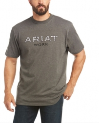Ariat® Men's Rebar Cotton Strong Logo Tee