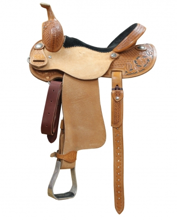 "Bar H® Barrel Racer Saddle - 14 1/2"" Seat"