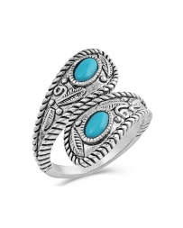 Montana Silversmiths® Ladies' Balancing The Whole Turquoise Ring