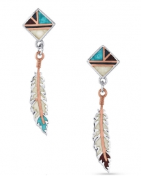 Montana Silversmiths® Ladies' Am Legends Feather Earrings
