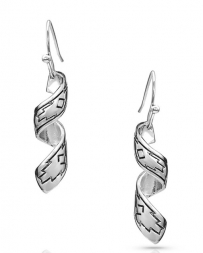 Montana Silversmiths® Ladies' Coiled Thunderstorm Earrings