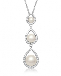 Montana Silversmiths® Ladies' Perfect Pearl Teardrop Necklace