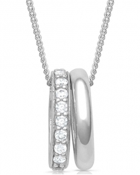 Montana Silversmiths® Ladies' Duo Ring Sparkle Necklace