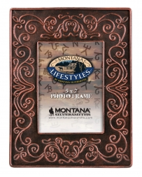 Montana Lifestyles® Red Tin Scroll Photo Frame 5x7