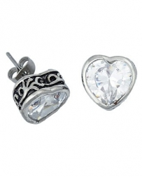 Montana Silversmiths® Ladies' Filligree Heart Stud Earrings