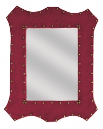Montana Lifestyles® Red Faux Alligator & Stud Wall Mirror