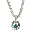 Montana Silversmiths® Ladies' Silver Horseshoe & Star Necklace